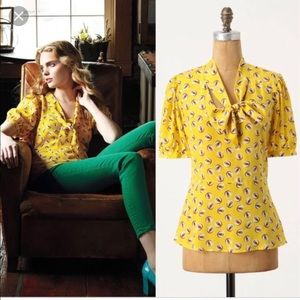 Anthropologie Girls from Savoy Owl Blouse - 2